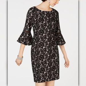 Jessica Howard Bell-Sleeve Lace Sheath Dress